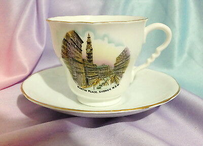 ♡ Martin Place Sydney Duo Tea Cup & Saucer Royal Stafford Bone China