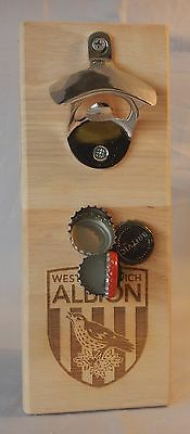 West Bromwich Albion Wall Mounted Bottle opener with magnetic cap catcher GIFT