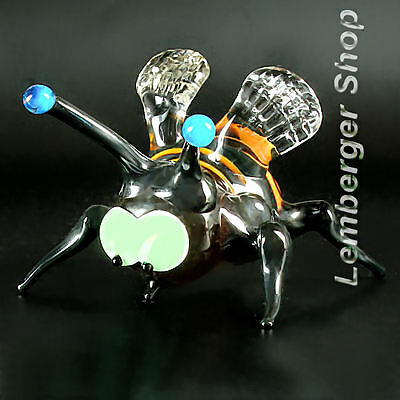 Glass figurine bumblebee made of colored glass. Lenght 8 cm / 3.2 inch!