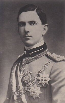 Royalty Crownprince Umberto Of Italy In Uniform Photocard