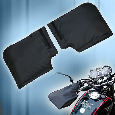 Thermal Motorcycle Motorbike ATV Winter Windproof Muffs Mitts Gloves Handle Bar