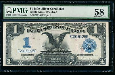 AC Fr 230 1899 $1 Silver Certificate PMG 58 comment