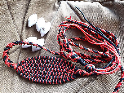 "Sling shot stone throwing sling ""Red-Dark"" handmade one of a kind"