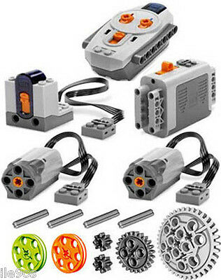 Lego Power Functions  SET 1  (technic,motor,receiver,remote,control,pulley,gear)