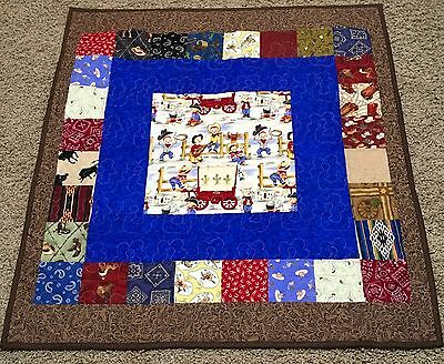 New Handcrafted Cotton Little Cowboy Baby Quilt