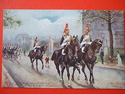 Rare Vintage Oilette Military Postcard- Royal Horse Guards  By Harry Payne