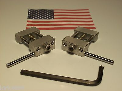 Set Of 2 Machinist Work Stops  Mill (1 Left And 1 Right)  Low Profile