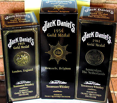JACK DANIELS ♦ GOLD MEDAL's ♦ 1915 ♦1954 ♦1981 ♦ 3 x 1Liter ♦ Buying opportunity