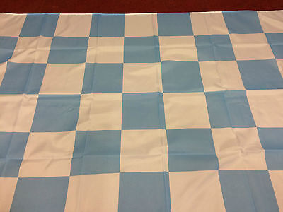 "Chequered Flag Sky Blue And White Large Flag 5ft X 3ft 60"" x 36"""