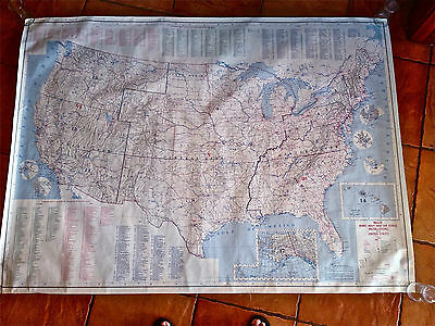 1971 vintage US military army navy air force installations map 56x41 NR