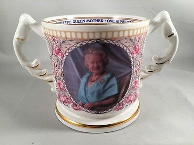 Aynsley China Commemorative Loving Cup Queen Mother 100th Birthday