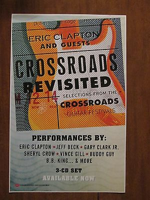 Crossroads Revisited new promo poster Eric Clapton BB King Joe Walsh Buddy Guy