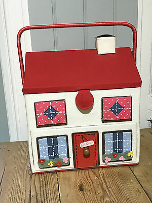 Lovely HTF RETIRED Cath Kidston TOWN HOUSE Vintage Collectors' Sewing Box 2010