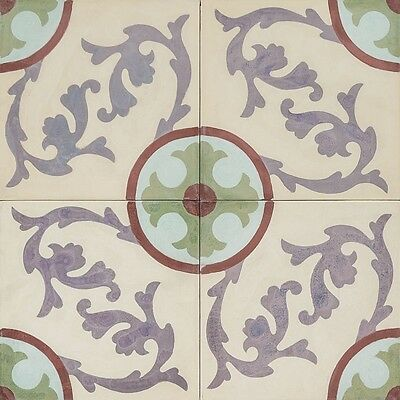 10m2 Cement encaustic tiles 300x300mm (20mm thick approx) beautifully handmade