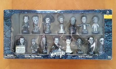 UNIVERSAL MONSTERS 15 Piece Little Big Head Figure Collector SET by Sideshow