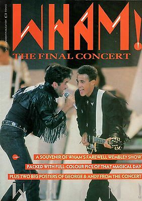 Wham! The Final Concert Poster Magazine 1986
