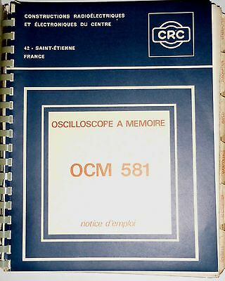 Documentation CRC  oscillographe à mémoire OCM 581