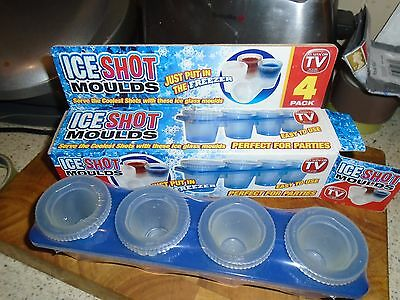 Frozen Ice Shot Glass Moulds - Party Glasses Mould - Jelly Cup Moulds, Set Of 4