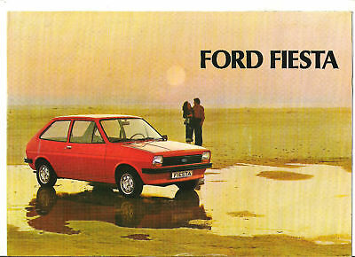 FORD FIESTA - 1977 // catalogue brochure prospekt folder dépliant prospectus