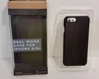 iPhone 6/6s Recover Real Wood Case Ebony For Apple