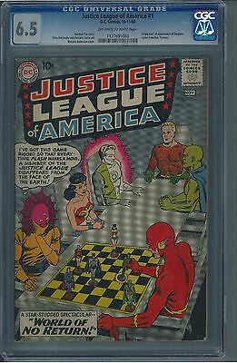 Justice League of America 1 CGC 6.5 OW/W Silver Age Key DC Comic IGKC L@@K