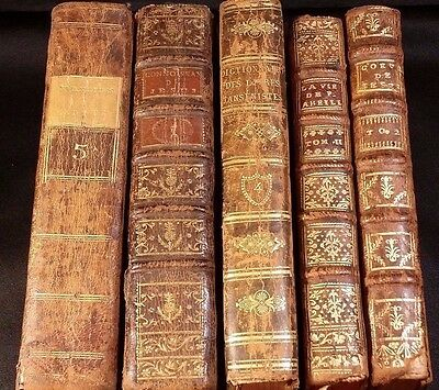 1700s - Lot of 5 Old Religious Books