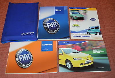 Fiat Punto Owners Handbook Service Book And Wallet 00-03 - free UK postage