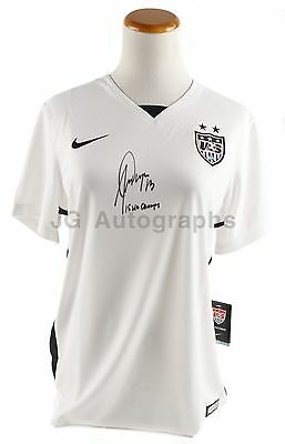 Alex Morgan World Cup Champs Autographed NIKE Team USA Dry-Fit Authentic Jersey