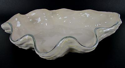 "Awesome 16.5"" Inch Pottery Barn "" UNDER THE SEA "" Scallop Serving Dish Bowl"