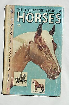 The World Around Us Comic Book #3 The Illustrated Story of Horses 1958 Fair Cond