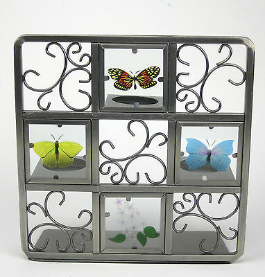 PartyLite Butterfly Easel Glass Metal Tealight  Spring Candle VotiveTea Light