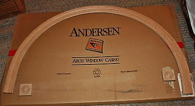 """Brand New Anderson Window Circle Top 2 1/4"""" Casing with Plinth Blocks CTN34"""