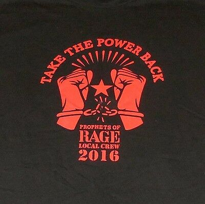 Prophets Of Rage - Local Crew Shirt 2016!  Public Enemy/cypress Hill!  Look!