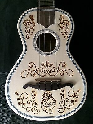 Portuguese Cavaquinho Decorated Galo De Barcelos - Walnnut / European Spruce