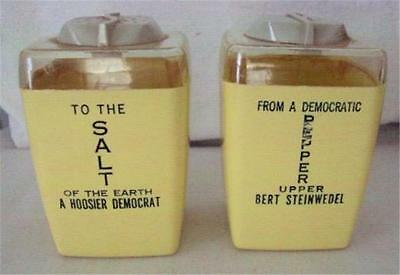 1960 Political Salt & Pepper - Democrat BERT STEINWEDEL for Indiana Governor