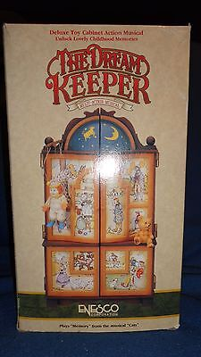 Enesco The Dream Keeper Vintage Musical Toy Cabinet Rare