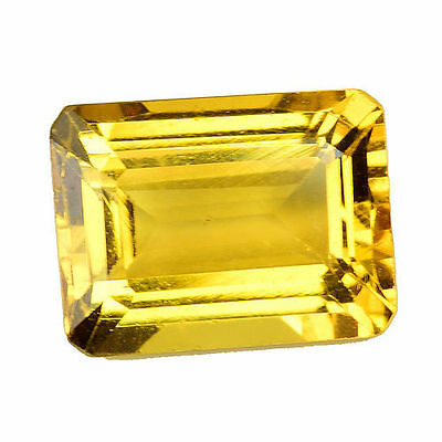 1.430Cts Extremly Golden Yellow Natural Beryl ( Heliodor )  Octagon Gemstones