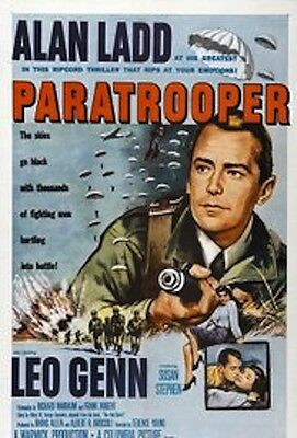 """16mm Feature""""PARATROOPER""""(1953) THE RED  BERET  Alan Ladd Terence Young Leo Genn"""
