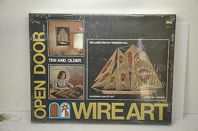 Wire Art, Schooner, Open Door, 1975, Shrink