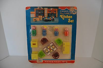 Vintage Fisher Price Little People Kitchen Set 729 Rare