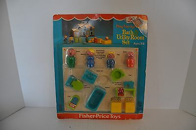 Vintage Fisher Price Little People  Bath Set 725 Rare