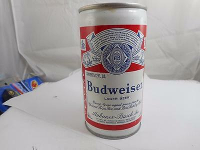Bud Budweiser Push Button Tab 12Oz. Steel Vintage Beer Can
