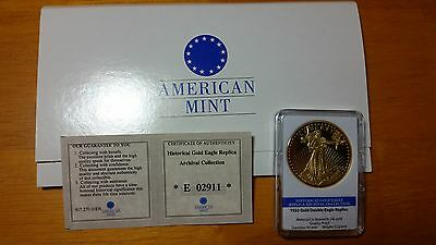 American Mint 24kt Gold Plated 1933 Gold Double Eagle Commemorative Coin Liberty