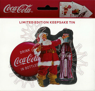 New Coca-Cola Playing Cards 2008 Limited Edition Keepsake Tin Santa Claus Coke