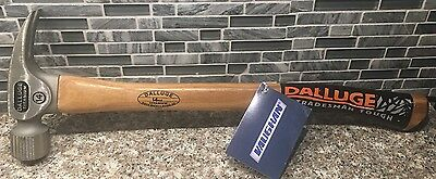"NEW Vaughan Dalluge 14oz Titanium 19"" Curved Hickory Handle Hammer 7175"