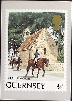 Definitive Stamp Issue Guernsey St Apolline Chapel Postcard C235