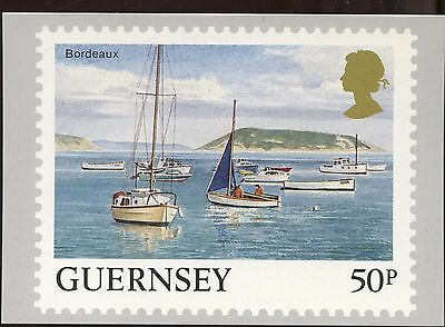 Definitive Stamp Issue Bordeaux Guernsey Postcard C280