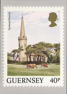 Definitive Stamp Issue Torteval Church Guernsey Postcard C314