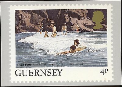 Definitive Stamp Issue Petit Port Guernsey Postcard C284
