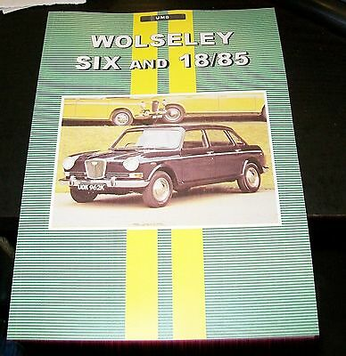 Wolseley 18/85 Road Test + Motor Trader Service Data Reprint Book Umb (Not Six)